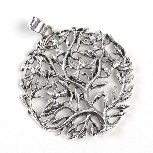 Tree with Birds (silver color)