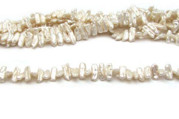 irregular stick white fresh water pearls