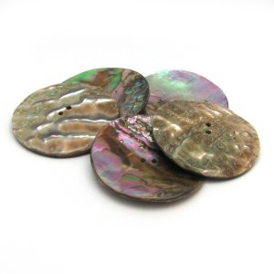 abalone button, 50mm
