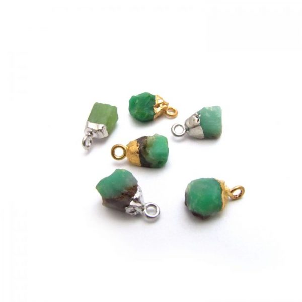 chrysoprase mixed gold plated & silver plated