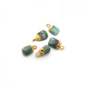 Emerald Raw Nugget Charm