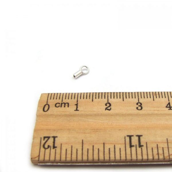 sterling silver thread chain end with ruler