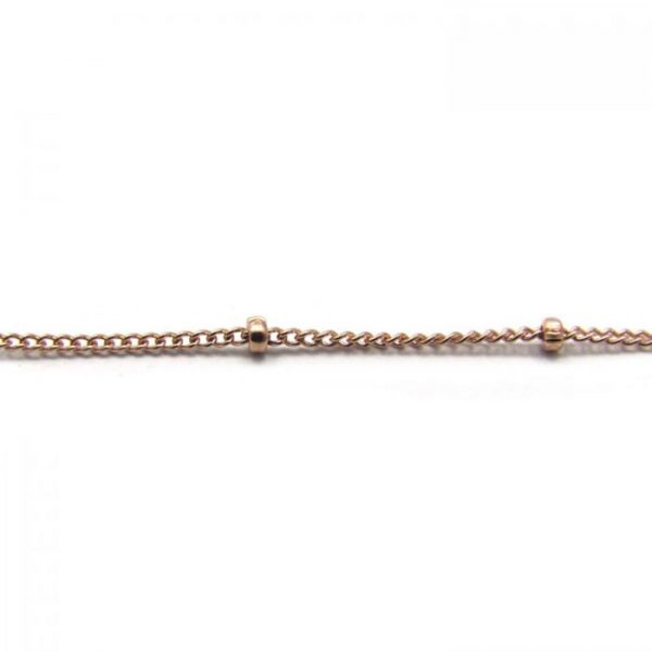 11082RF Rose Gold Fill Chain close up detail of satellite links