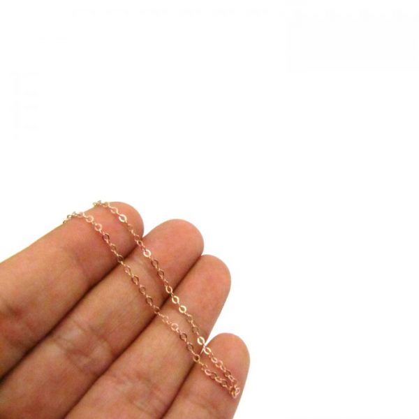 Flat Oval Chain 997RF Rose Gold Fill