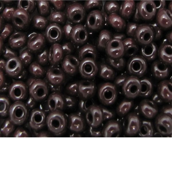 Seed Beads Opaque Dark Brown
