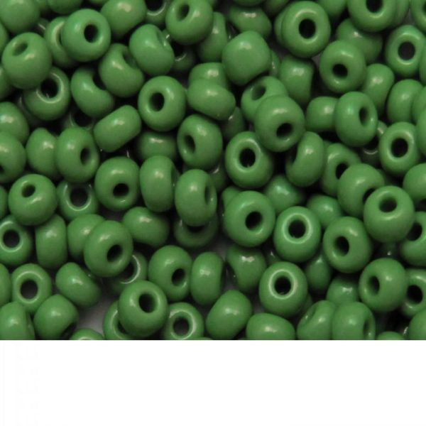 Seed Beads Opaque Green