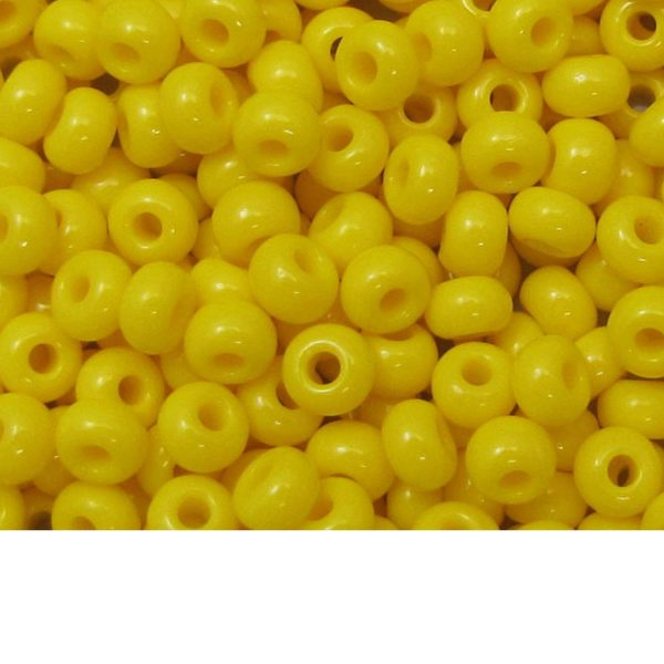 Seed Beads Opaque Yellow