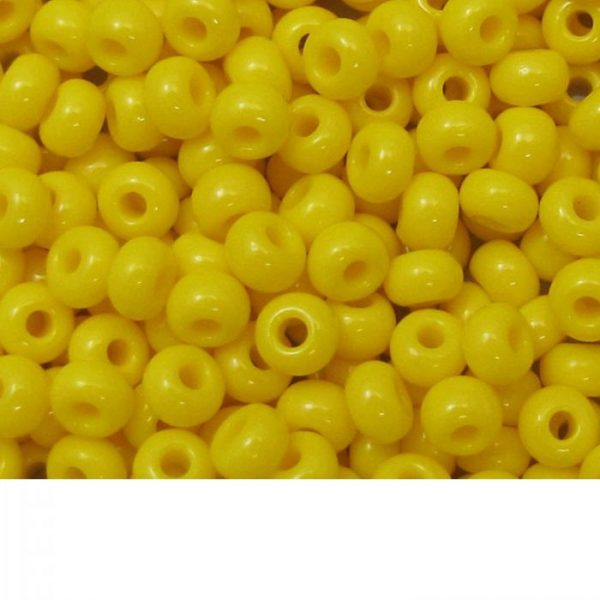 Seed Beads Opaque Yellow