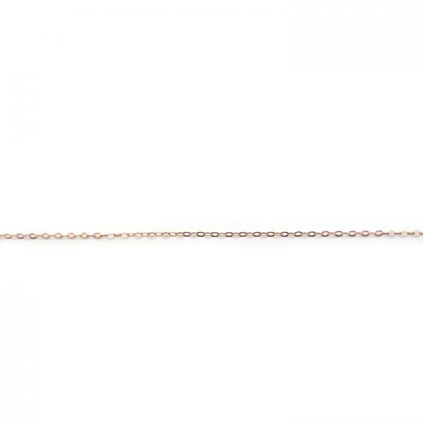 flat oval link 755RF rose gold fill chain