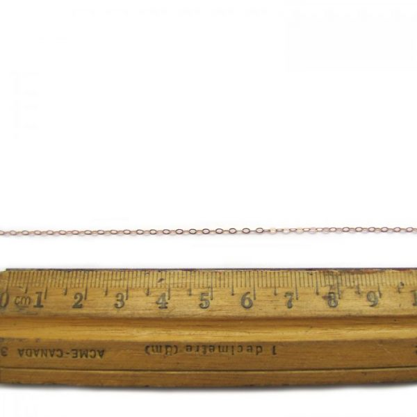 flat oval link 755RF rose gold fill chain with ruler