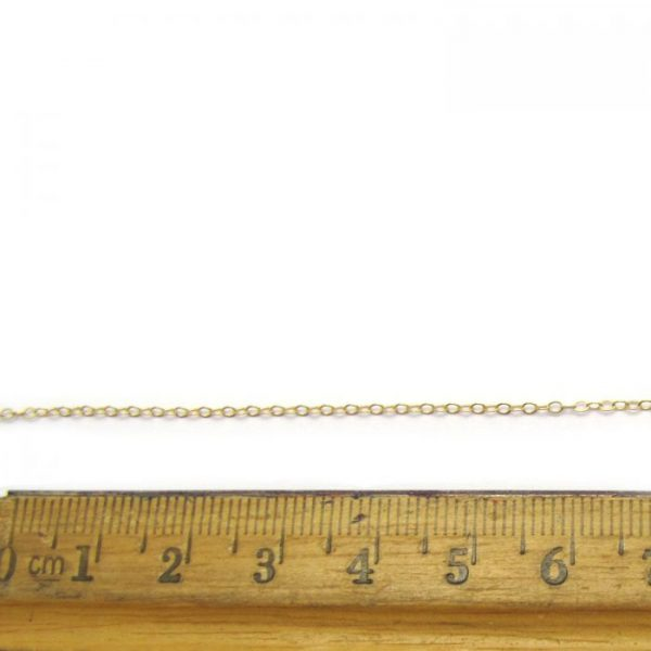flat oval gold filled 775AF chain with ruler