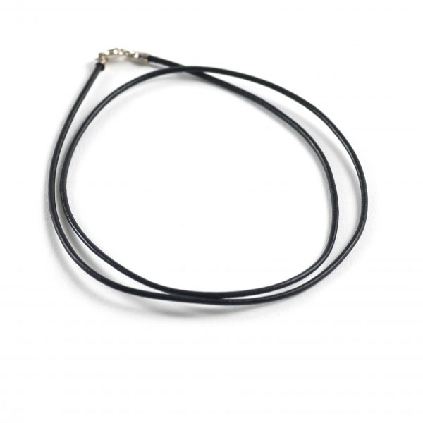 1.5mm Leather Pre-Made Necklace – Black
