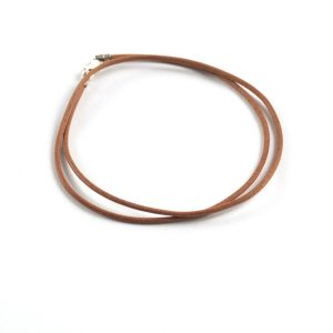 1.5mm Leather Pre-Made Necklace - Natural