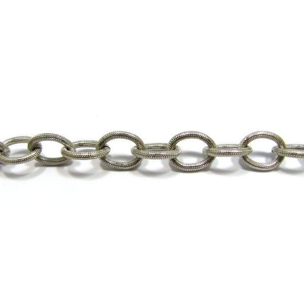 Large Oval Link Base Metal – Silver Plated 902X/7