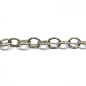 Large Oval Link Base Metal - Silver Plated 902X/7