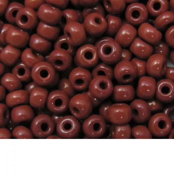 Seed Beads Opaque Brown