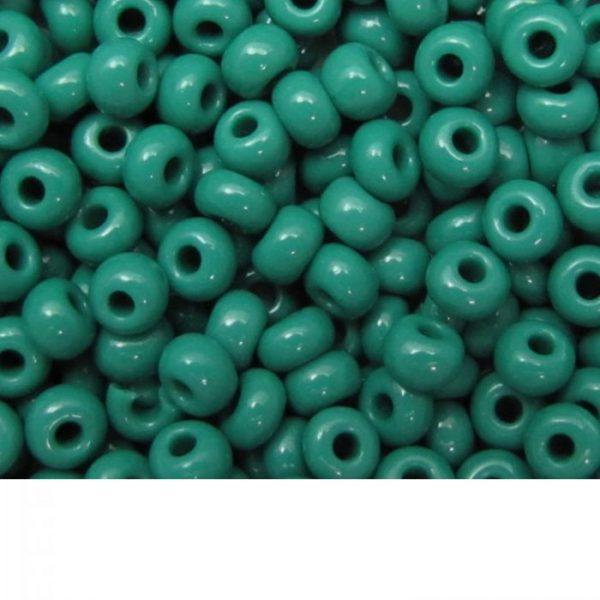 Seed Beads Opaque Dark Green