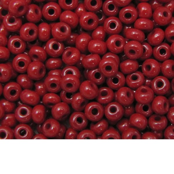 Seed Beads Opaque Dark Red