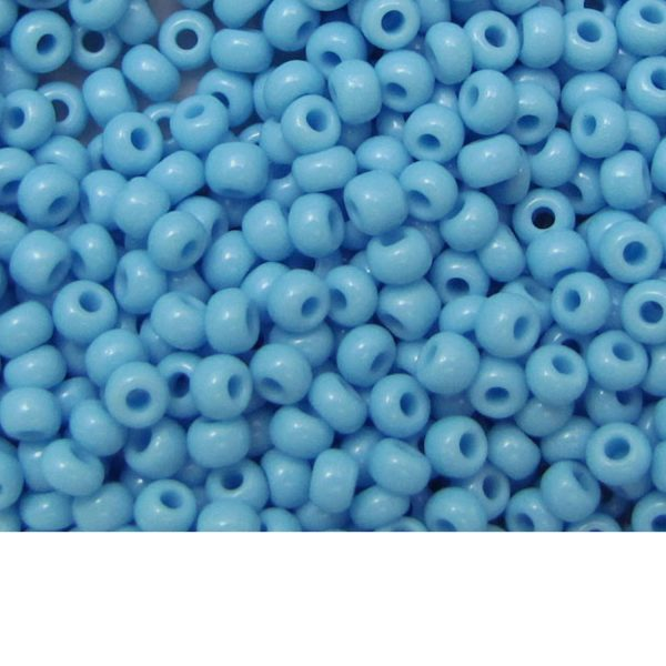 Seed Beads Opaque Light Blue Turquoise