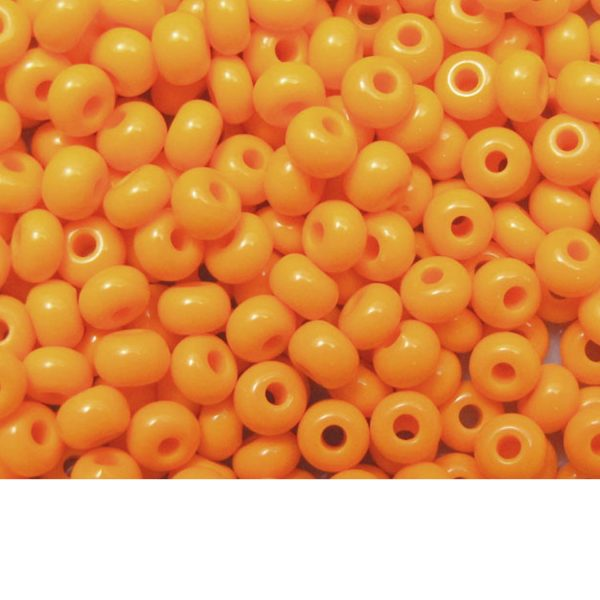 Seed Beads Opaque Light Orange