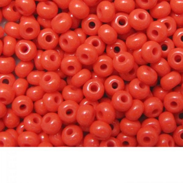 Seed Beads Opaque Light Red