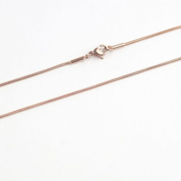 Pre-Made Rose Gold Plated Snake Chain - Stainless Steel