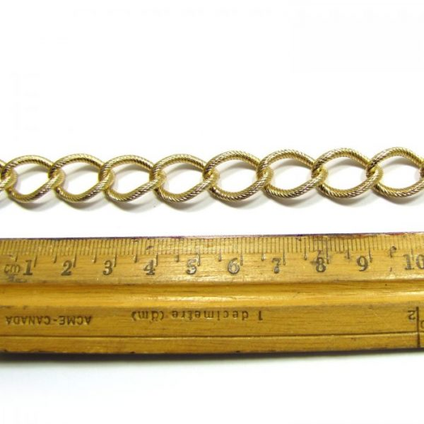 large curb chain base metal gold plated cc ir 1200