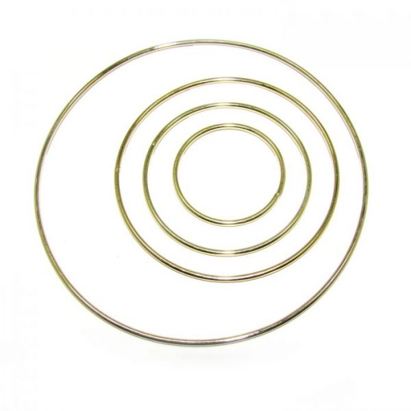 solid closed brass rings