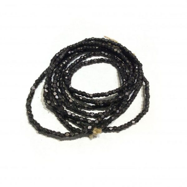 African Faceted Gunmetal Beads 2.5mm 2
