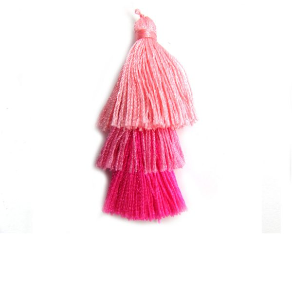 Tiered Pink Ombre Small Tassel