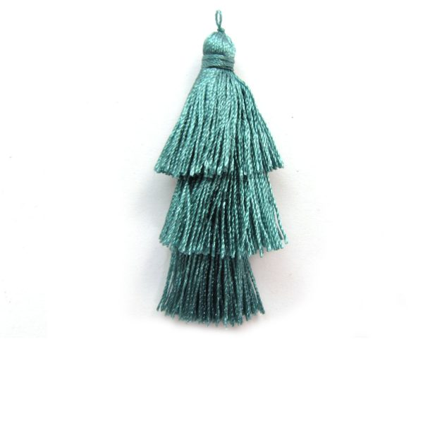Tiered Smoky blue Small Tassel