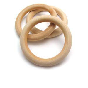 two & half inch wooden rings