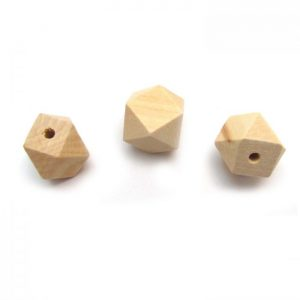 Natural hexagon bead - 3 views