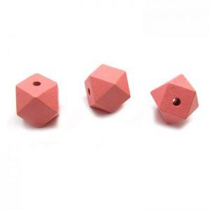 Peach hexagon bead - 3 views