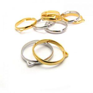 Single loop plated metal base ring