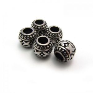 Stainless Steel Large Holed Bead