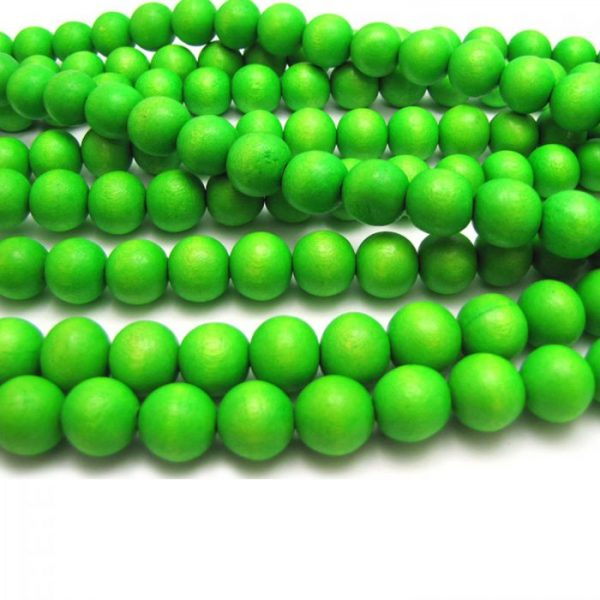lime green - coloured wood smooth rounds