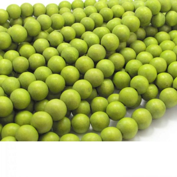 olive green - coloured wood smooth rounds