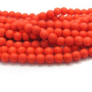 orange - coloured wood smooth rounds