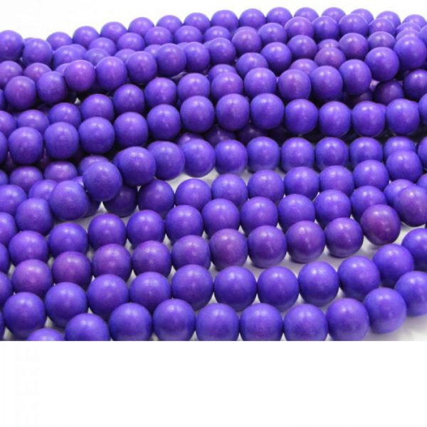 purple - coloured wood smooth rounds