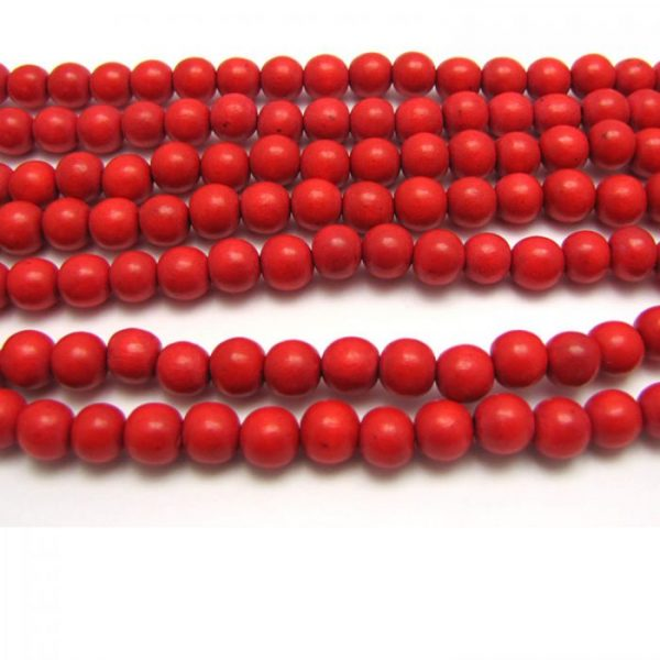 red - coloured wood smooth rounds