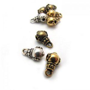 Large Decorative Bead with loop - Base Metal