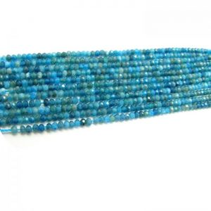 african blue apatite 3mm rondelle faceted bundle