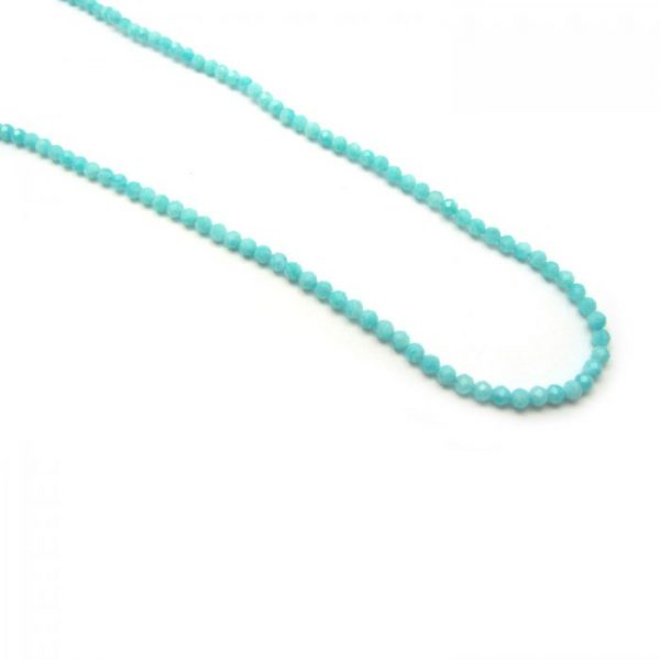 amazonite faceted round 3mm strand