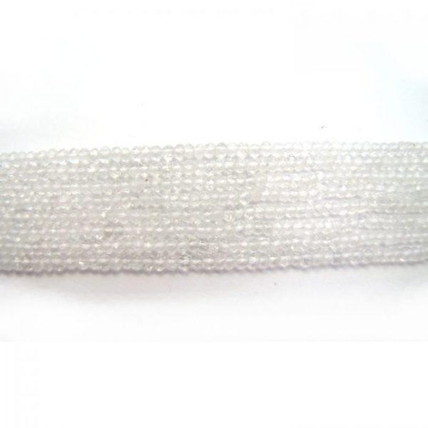 clear quartz 3.5mm round faceted bundle