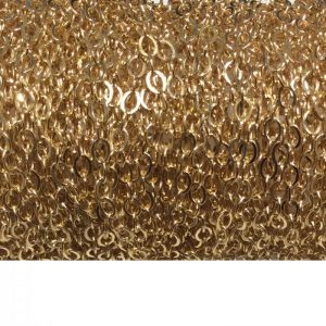 gold fill flat oval chain 765F close up spool