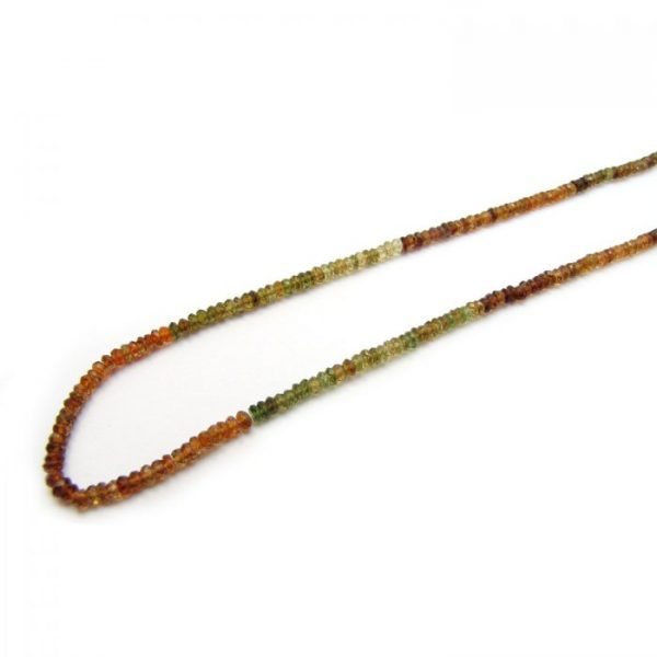 petro tourmaline 3mm micro faceted rondelles strand