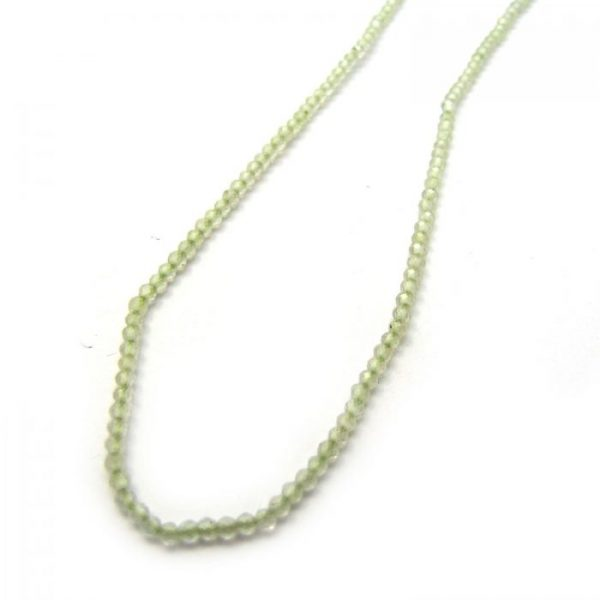 prehnite faceted round 2mm strand