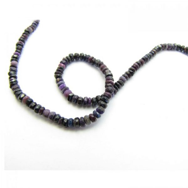 sugilite 4mm rondelle faceted strand