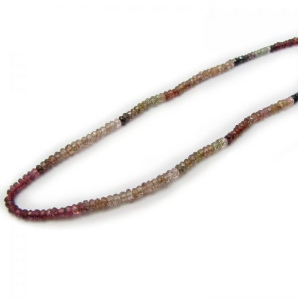 tundra garnet 3mm micro faceted rondelle single strand
